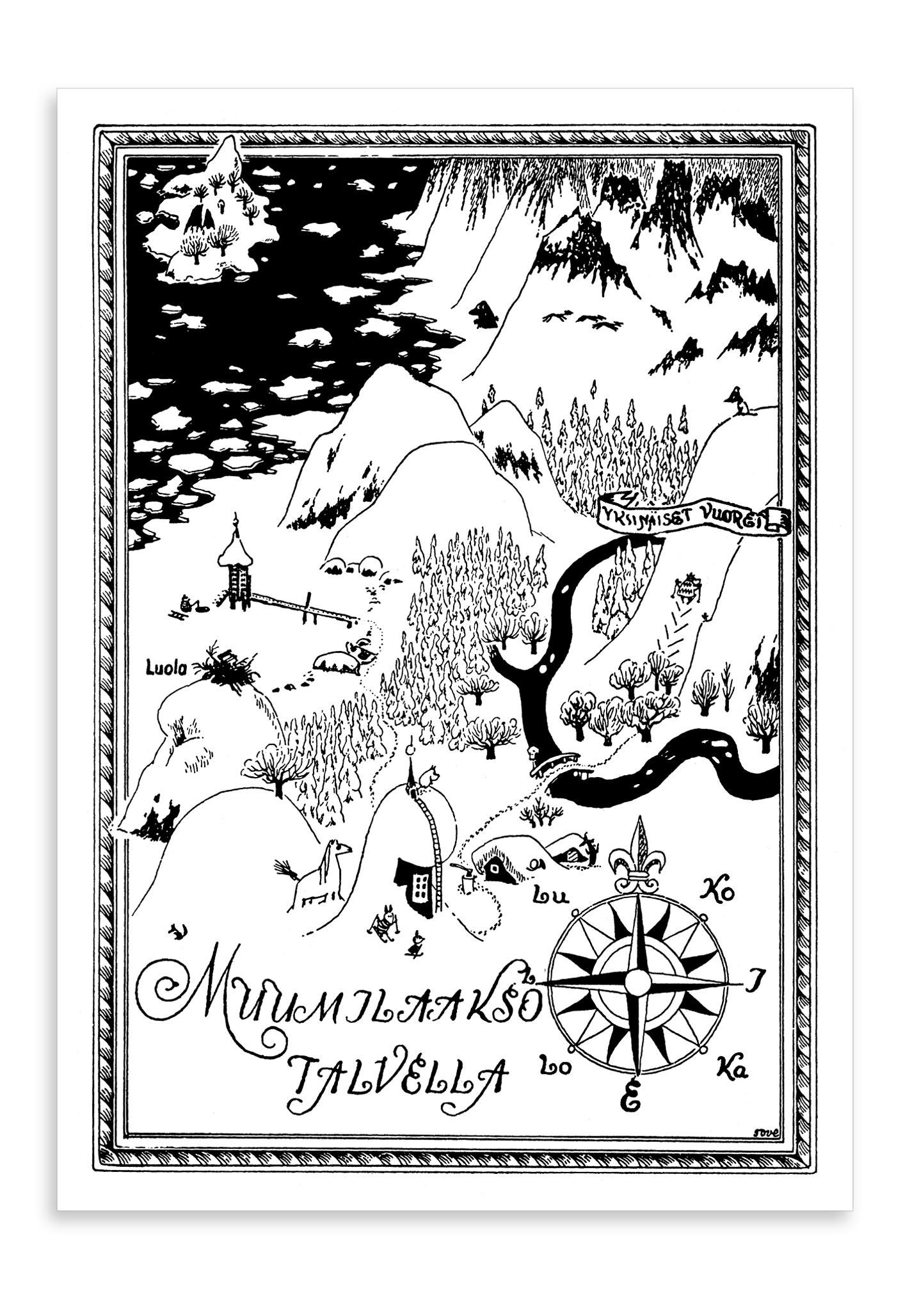 Putinki Postcard Muumilaakso talvella