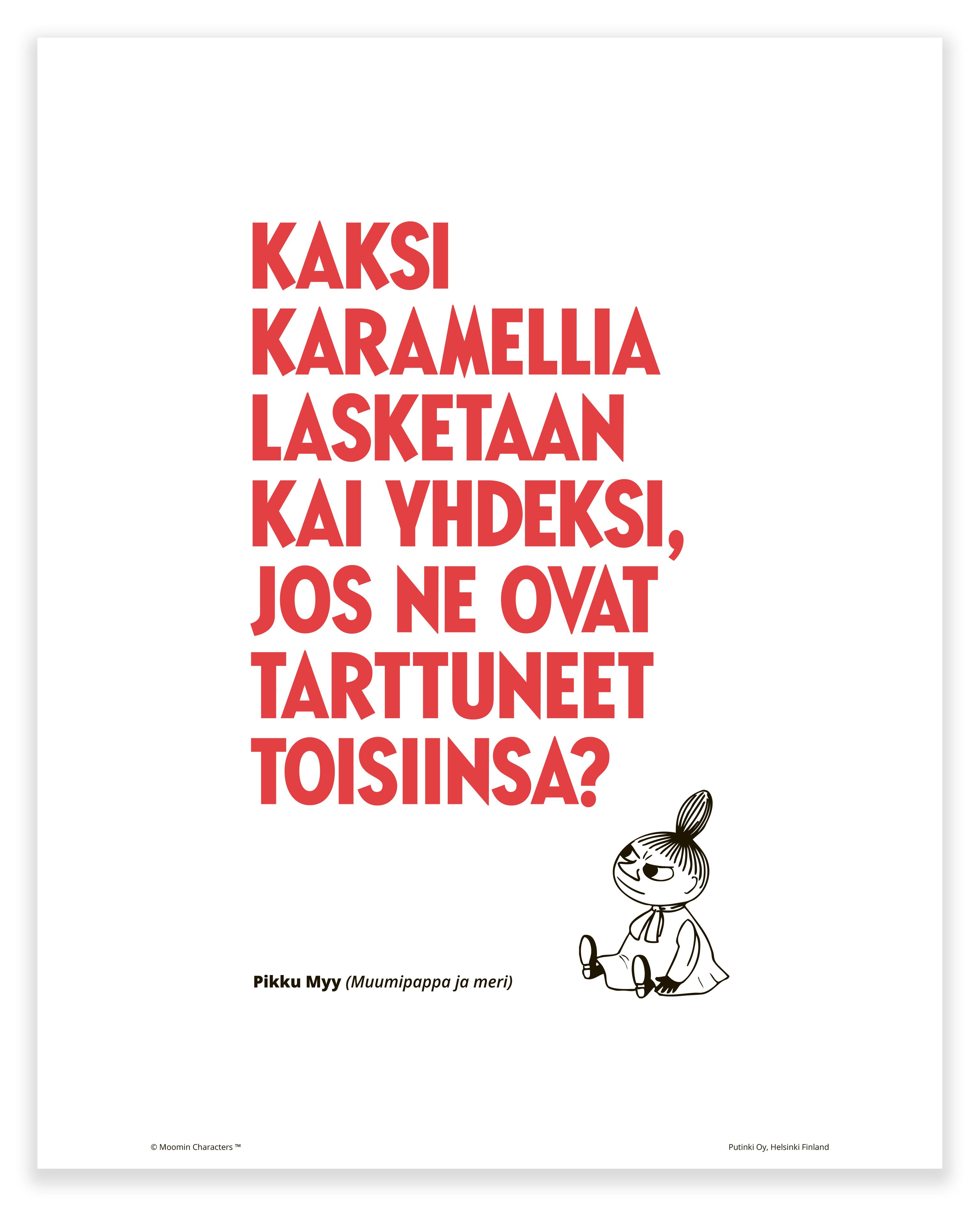 Putinki Poster Kaksi karamellia