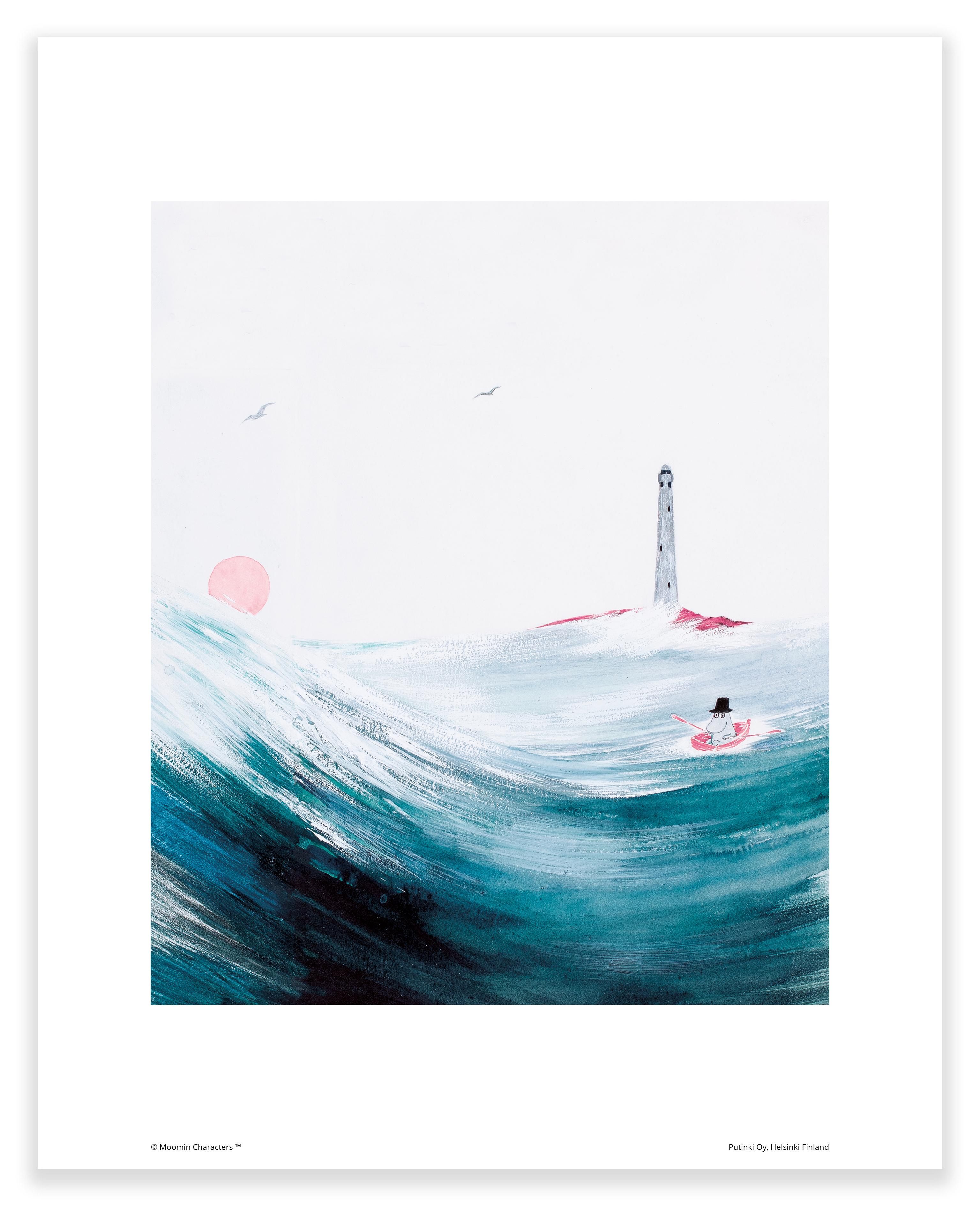 Putinki Poster Moominpappa at Sea