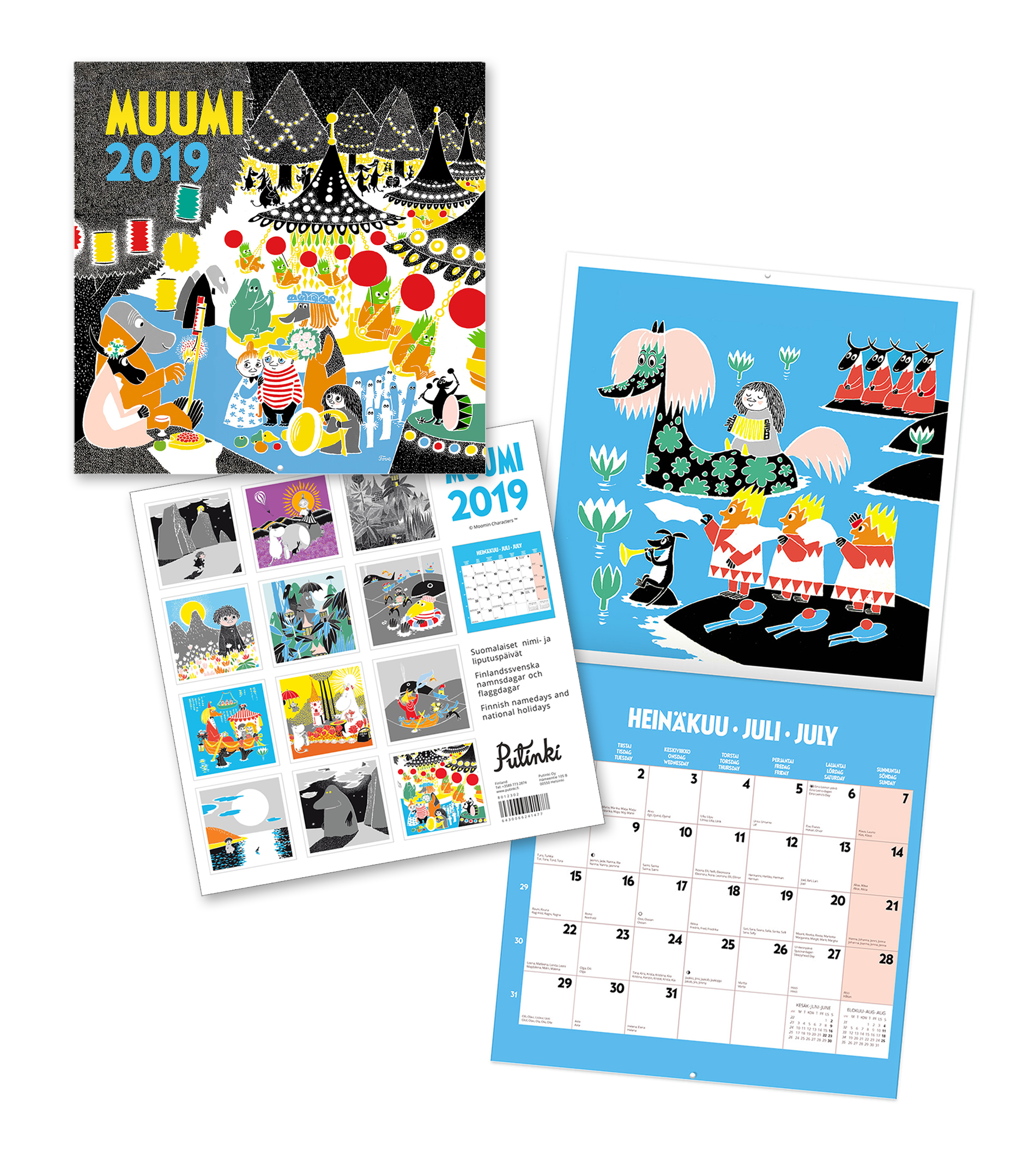 Putinki Wall Calendar 2019 30x30