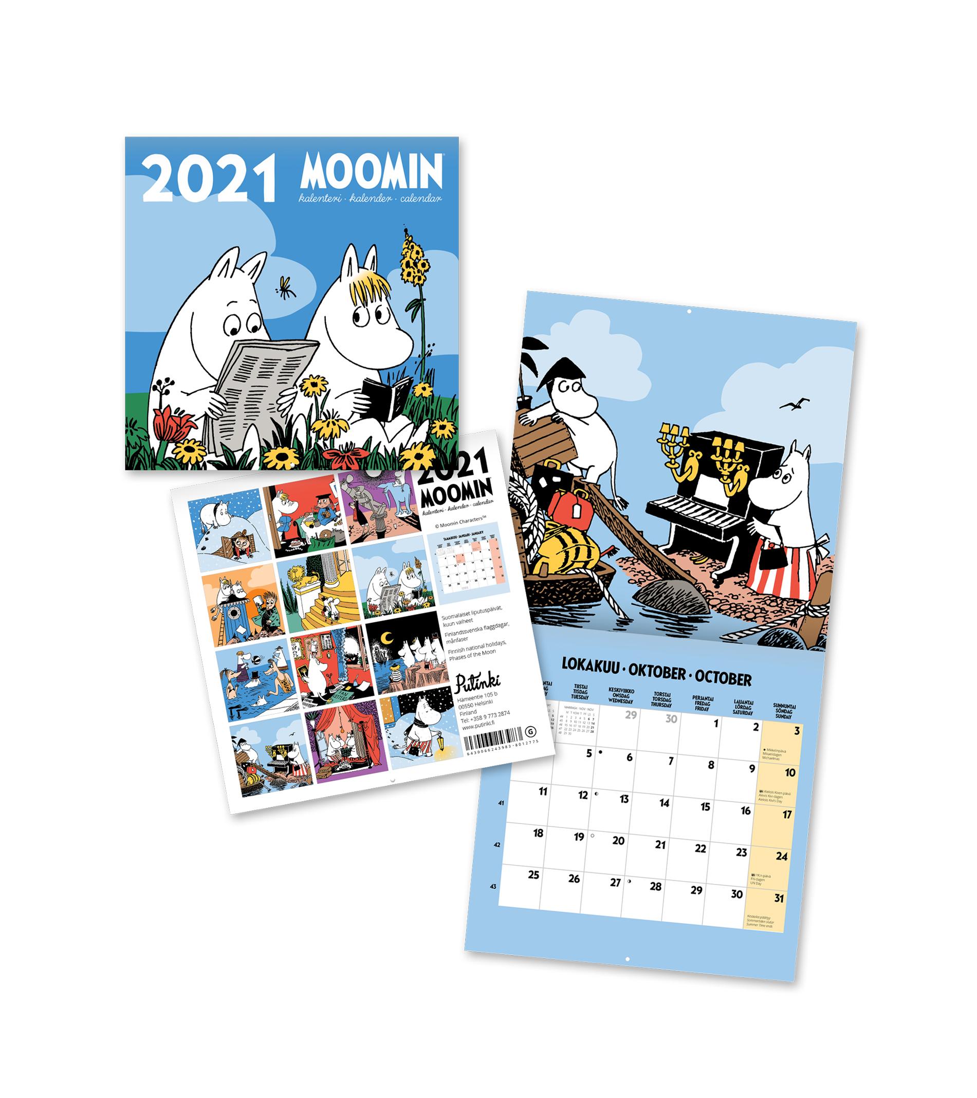 Putinki Wall Calendar 2021 20x20