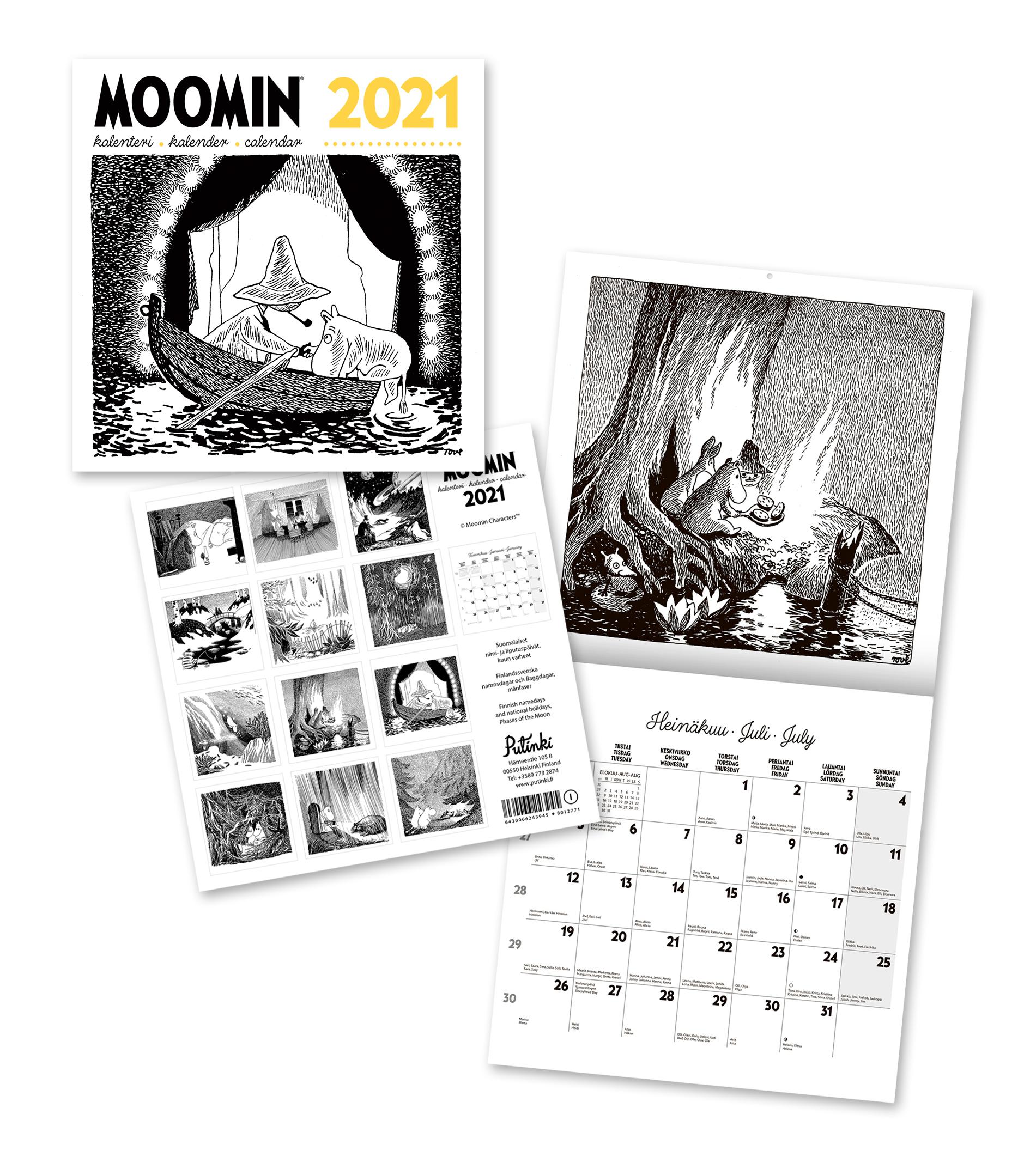 Putinki Wall Calendar 2021 30x30