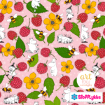 Stofflykke - Raspberry Paradise - Fabric