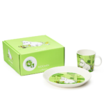 by Arabia Moomin Classic set plate 19cm and mug 0,3L set Moomintroll grass green